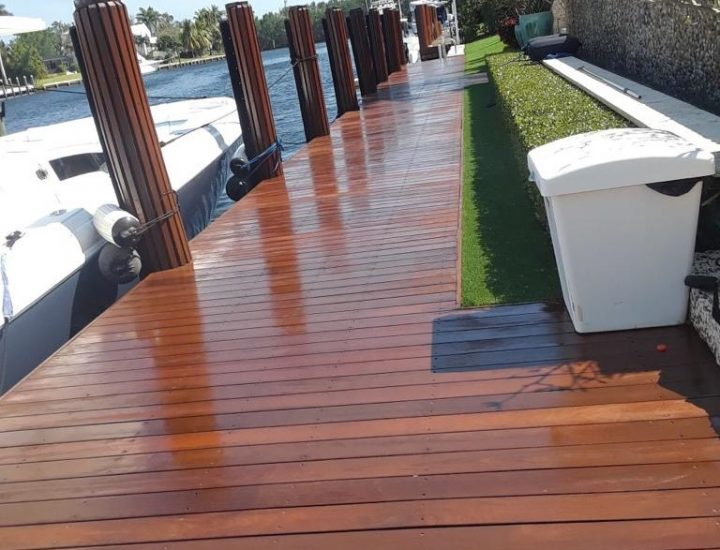Ipe hardwood dock on intercostal waterway