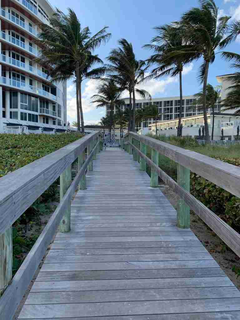Ipe Wood Boardwalk at the Miami Resort and Club, A Waldorf Astoria Luxury Resort