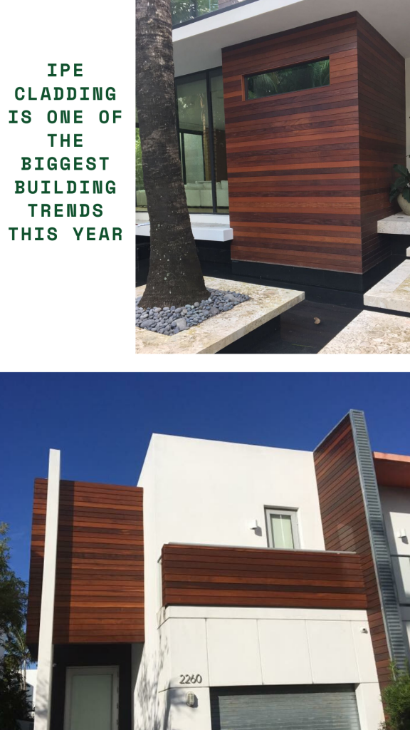 picture with ipe decking siding installed horizontally in Austin.