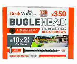 DeckWise® Colormatch SS Bugle-Head Deck Screws #10x2-1/2""